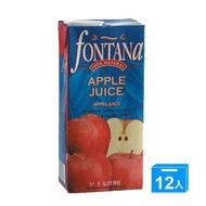 FONTANA100%天然蘋果汁1Lx12【愛買】