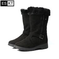 ESKT 女中筒雪鞋SN225  城市綠洲 (雪靴、防潑水、刷毛、冰爪)