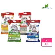 【ECO艾可】豆腐貓砂7L-6入 原味/綠茶/玉米(貓砂)