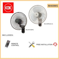 KDK Wall Fan M40MS 16inch with Installation and Remote Control