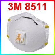 {CF舖}3M 8511 N95防塵口罩10個/盒(有呼氣閥)(3M口罩 PM2.5 N95口罩 霾害 霧霾 粉塵 9010 9010V 8577)