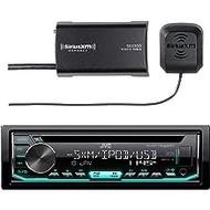 JVC Car CD Player Receiver USB AUX Radio - Bundle Combo with SiriusXM SXV300v1 Satellite Radio Connect Vehicle Tuner Kit