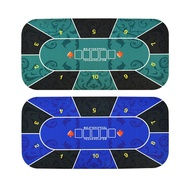 ▪✓❣120/180cm德州撲克桌布橡膠墊10人臺位德州撲克籌碼桌面游戲桌布