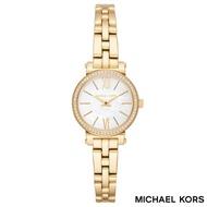 MICHAEL KORS 迷你水鑽貝殼面金色手鍊女錶 26mm MK3833 公司貨保固2年  名人鐘錶