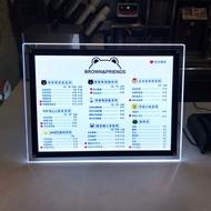 看板 超薄led水晶燈箱片A3/A4吧台奶茶店菜單價目表設計點餐發光看板『XY225』