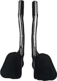 Strength Aero Bars TT Bike Armrest Handlebars Carbon Fiber Aerobar Triathlon 340MM Sliver Gloss