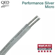 qed silver micro speaker cables made in UK 6m