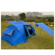 戶外裝備全自動帳篷雙層多人旅游大帳篷5-8人兩房一廳野營帳篷