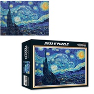 Van gogh starry sky 1000pcs Jigsaw Puzzles children & Adult puzzle 1000 Pieces  Starry Night Interactive Animation