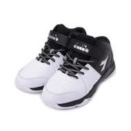 DIADORA 魔鬼氈中筒籃球鞋 白黑 DA13005 大童鞋
