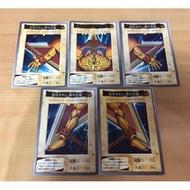 日版 萬代 BANDAI 1998  遊戲王 黑暗大法師 No.38-42 金字 卡片 卡