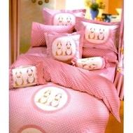 【台灣製】精梳棉加大雙人床包枕套組-彼得小兔
