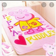 佩佩豬毛毯 佩佩豬懶人毛毯 小毯子 刷毛毯 粉紅豬小妹 輕柔保暖刷毛毯佩佩豬被 佩佩豬法藍絨毯 棉被 佩佩豬