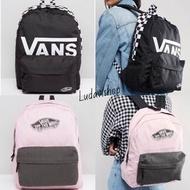 正品 Vans backpack black pink grey 黑 白 棋盤 粉 灰 後背包 上課包 潮流