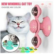 寵物貓玩具轉盤互動益智訓練轉盤風車球內置旋轉LED燈吸盤底座