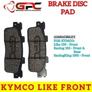 GPC Motorcycle Brake Pads (Brake Disc Pads) for KYMCO Like 150 Front, Racing 150, RacingKing 180i