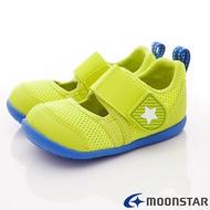 日本月星Moonstar機能童鞋HI系列寬楦頂級速乾鞋款1177黃(寶寶段)