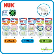 Nuk Orthodontic Silicone Soother/Pacifier 2pcs (0-6months/6-18months/18-36months)