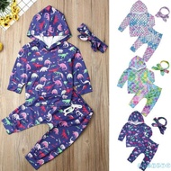 ✦♛✦Newborn Baby Boy Animal Dinosaur Mermaid Hoodie Set