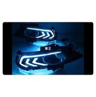 【車王小舖】福特 Ford Mondeo 2014 日行燈 晝行燈 霧燈框改裝 野馬款 帶轉向 三色款