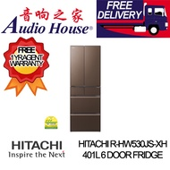 HITACHI R-HW530JS-XH 401L 6 DOOR FRIDGE ***1 YEAR WARRANTY BY HITACHI *** FREE DELIVERY ***