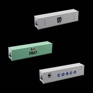 3pcs HO Scale 40ft 1:87 Hi-Cube Refrigerater Reefer Container for Freight Car C8722 Railway Modeling