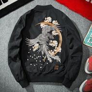 ☆空軍夾克 MA1外套-個性中國風精緻刺繡飛行員男軍裝外套73pf7【獨家進口】【米蘭精品】