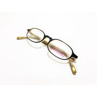 1990s 美國 Columbus 仿舊'40s復古黑/金色膠框眼鏡鏡框 全新品老眼鏡 類似日系泰八郎 角矢甚治郎 手工
