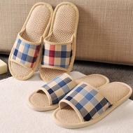sliper 【Ready Stock】 【NEW ARRIVAL】 sandle women Linen hotel musim luruh dan musim sejuk mengemas sandal kapas dalaman rumah untuk lelaki dan wanita selipar selipar selipar selipar rumah