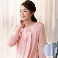 華歌爾睡衣-中空保暖紗 M-L 長袖裙裝(藍)