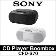 Sony CFD-S70 Portable Slim CD Player Boombox Speaker CD AUX CD AM FM USB