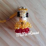 奧地利水晶 手工 媽祖串珠吊飾 軟陶娃娃頭