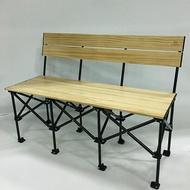《台南悠活運動家》JIA GUANN JG-C002 實木折疊收納椅-三人款 台灣製 折疊椅 野外椅 露營椅 休閒椅 野餐椅