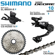 SHIMANO DEORE M6000 10v Groupset with Right Shifter Rear Derailleur Cassette Sprocket COG Chains 10-