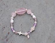 ||月光天使|| 星光粉晶/珍珠/月光石/拉長石/紫水晶/葡萄石/925銀