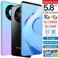 HUAWE Mate43 Plus 5G Telefon Murah Original Handphone 6GB+128GB Android 5.8-inch 4800mAh Large battery Cellphone Dual SIM Smart Phone GPS WIFIFree Shipping