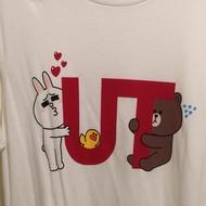 [近全新] Uniqlo Line 熊大 兔兔 T恤 尺寸M