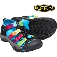 CodEX= KEEN NEWPORT SANDALS 編織彈性綁繩護趾包頭涼鞋(黑迷彩)1018441 拖鞋 大童 女