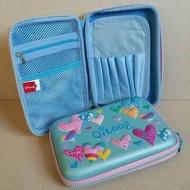 กล่องดินสอสมิกเกิ้ล EVA กระเป๋าดินสอ กล่องดินสอ smiggle hardtop pencil case 3d 3ดี ลาย หัวใจ สีฟ้า