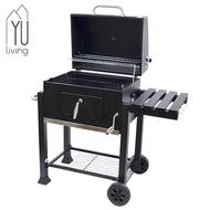 【YU Living】豪華型戶外移動式炭火燒烤爐 悶烤爐 烤肉爐(黑色) [折扣碼現折]