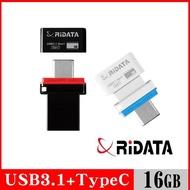 【RiDATA 錸德】HT2 USB3.1 Gen1+TypeC 雙介面隨身碟 16GB
