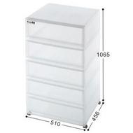 聯府 KEYWAY 五層置物櫃(附輪) 整理櫃/抽屜櫃 LF5105