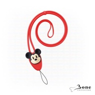 【Bone】大逗扣彈力頸掛繩-米奇(迪士尼授權 證件掛繩 手機掛繩)