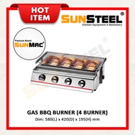 【SUNSTEEL】Gas Barbecue Burner / BBQ Grill Stove - 4 Burner