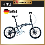 [Ready Stock] Hito X4 Family Bicycle Foldable Bike 20 Inches Foldable Leisure Bicycle Aluminium 7 Speed Foldie Light Weight Germany Designed