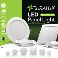 DURALUX LED PANEL DOWNLIGHT WITH SIRIM 6 inch 18W DAYLIGHT, WARM WHITE, COOL WHITE