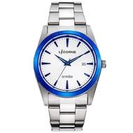 【LICORNE】力抗錶 都會簡約雅致手錶(白藍/銀 LT076MTWI-N)