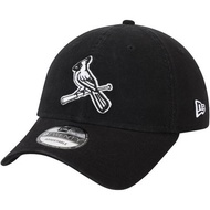 MLB紅雀隊New Era Core Classic Twill 9TWENTY Adjustable Hat黑色棒球帽
