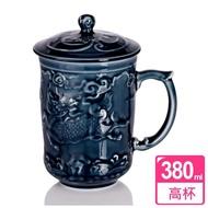 【乾唐軒活瓷】麒麟高杯 / 礦藍