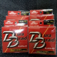 貝克力 Berkley Dura Braid 極細微拋pe線 黃色 150米